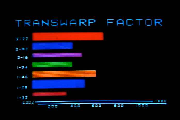 The terrible graphics on the displays of the Excelsior. Courtesy of Paramount