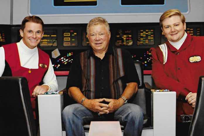 Tyler, William Shatner, and friend William Conlin share a moment.