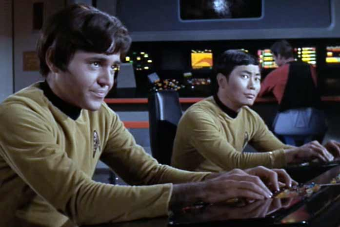 Chekov's first appearance on Star Trek. Courtesy of Paramount