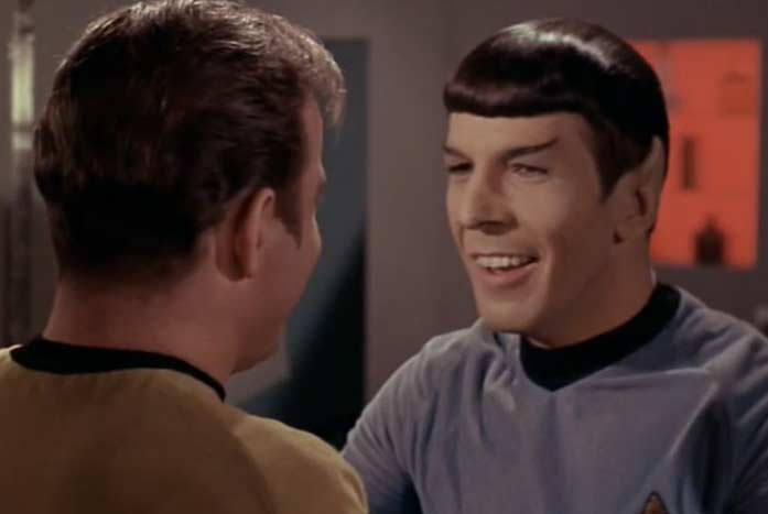 Everyone knows to never, ever trust a smiling Vulcan. Courtesy of Paramount