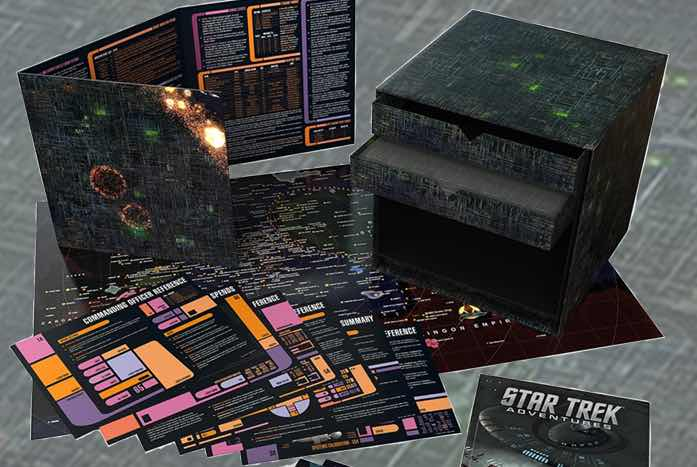 The Borg Box Set comes as a … cube! What else would it be? Courtesy of Modiphius Entertainment