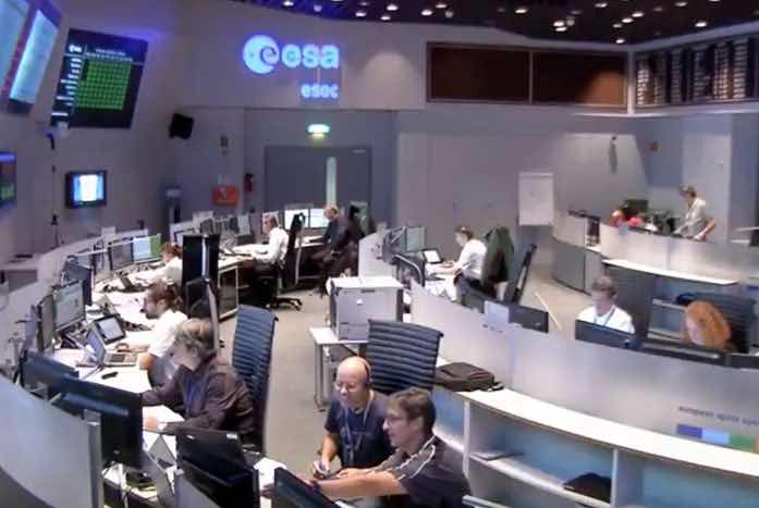 Jana hard at work at the European Space Operations Centre.
