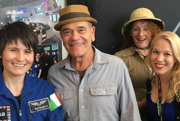 Star Trek: Voyager's Robert Picardo poses with Jana and a few other colleagues.