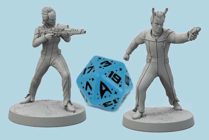 Even the figures and dice are finely detailed. They look as if they were created in a Galaxy-class replicator. Courtesy of Modiphius Entertainment
