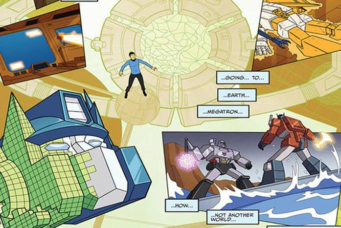 Murphy took the designs from the 1984-88 series for the look of his Transformers. Courtesy of IDW