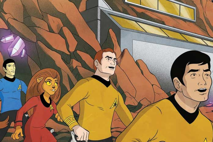 Murphy took inspiration for his Star Trek crew from The Animated Series. Courtesy of IDW
