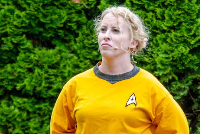 Ariel Hicks as Kirk. Photo by Chase Gilley